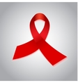 Aids red ribbon awareness day symbol vector image vector image