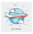 air travel thin line concept vector image vector image