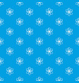 atom pattern seamless blue vector image vector image