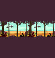 autumn landscape panorama vector image vector image