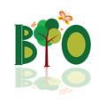 bio word icon with tree vector image