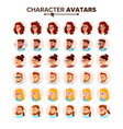business people avatar man woman face vector image