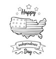 card of independence day hand draw vector image vector image