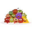 Cartoon bacteria colony vector image vector image