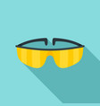 chemical protect glasses icon flat style vector image vector image