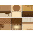 coffee backgrounds vector image vector image