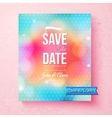 Colorful Save The Date template textured with dots vector image vector image