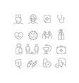 coronavirus protection icons set isolated vector image