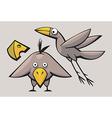 Cute funny Birds vector image vector image