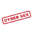 Cyber Sex Text Rubber Stamp vector image vector image