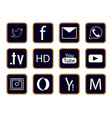 different icons for web vector image vector image