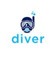 diver logo design inspiration vector image vector image