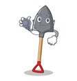doctor shovel character cartoon style vector image