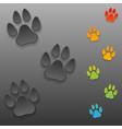 dog tracks vector image vector image