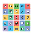 Education Square Icons 5 vector image