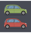 Flat Cars vector image