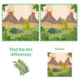 funny dinosaurs find 10 differences educational vector image vector image