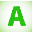 grass letter A vector image