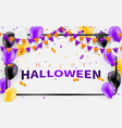 happy halloween carnival background orange purple vector image vector image