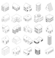House icons set isometric 3d style vector image vector image