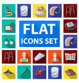 human old age flat icons in set collection for vector image vector image
