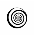 Hypnotic circle icon outline style vector image