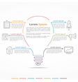 Idea Concept Infographics vector image