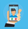 incoming calls from a boy vector image vector image
