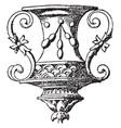 large vase during french renaissance vintage vector image vector image