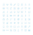 liner office equipment icons vector image vector image