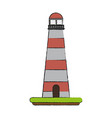 lit lighthouse icon image vector image