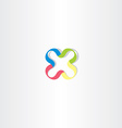 logotype x colorful logo letter x icon vector image