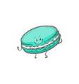macaron cartoon character vector image vector image