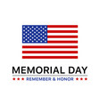 memorial day display poster banner vector image vector image