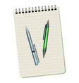 notebook and two pens vector image vector image