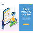 online food delivery services global positioning vector image