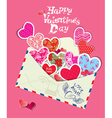 ornament hearts envelope 380 vector image vector image