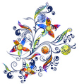 Pattern with watercolor vector image vector image