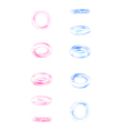 Phases of a falling glass ring design elements vector image vector image