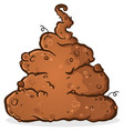 pile of stinky putrid poop cartoon vector image vector image