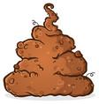 pile stinky putrid poop cartoon vector image vector image