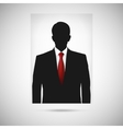 Profile picture whith red tie Unknown person vector image vector image