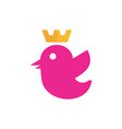 queen bird abstract logo icon vector image vector image