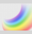 rainbow on a transparent background vector image vector image