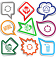 recycle symbol weather in hands natural globe and vector image
