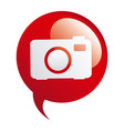 red bubbles with camera symbol icon vector image