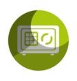 safe money box icon vector image vector image