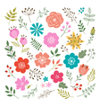 set floral elements vector image vector image