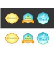set of emblem with summer vector image vector image