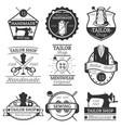 set of vintage tailor labels badges vector image